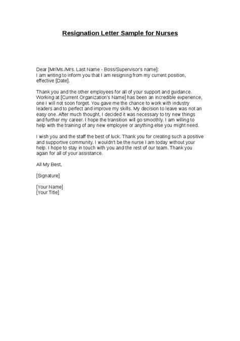 Resign Letter Sample One Month Notice