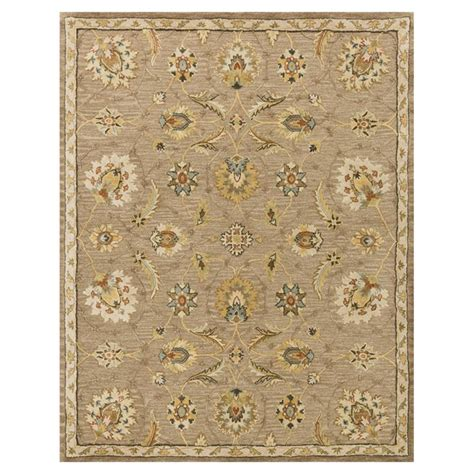 Robert French Country Beige Latte Vine Wool Rug 3 6x5 6 Country Rugs