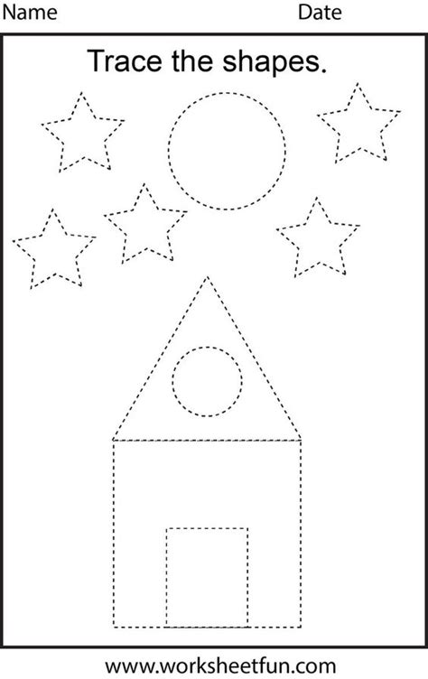 printable individual shapes free printable preschool worksheets this one is trace