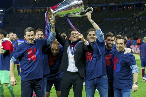 Barcelona Prematch Ucl 1516 barce manager luis enrique is to step this summer
