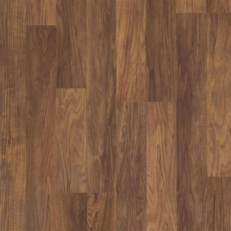 Plank Laminate Flooring Shop Style Selections 8 05 In W X 3 97 Ft L Walnut Smooth Wood Plank Laminate Flooring