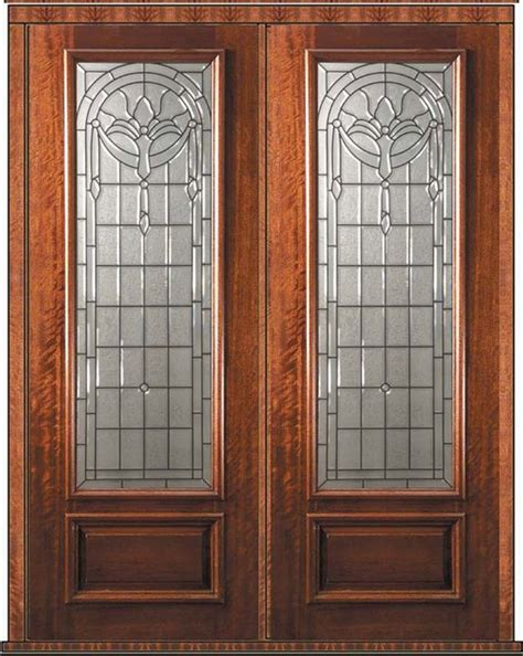 Mahogany Front Door With Glass by Prehung Door 96 Wood Mahogany Palacio 1 Panel 3 4
