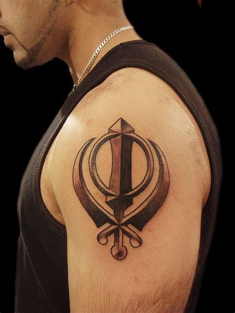 khalsa tattoo designs devotion khanda sikh symbol by miguel