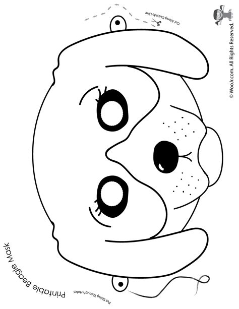 dog printable mask woo jr kids activities