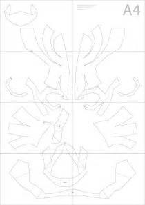 dali lomo express halloween diy cardboard skull display props pdf template