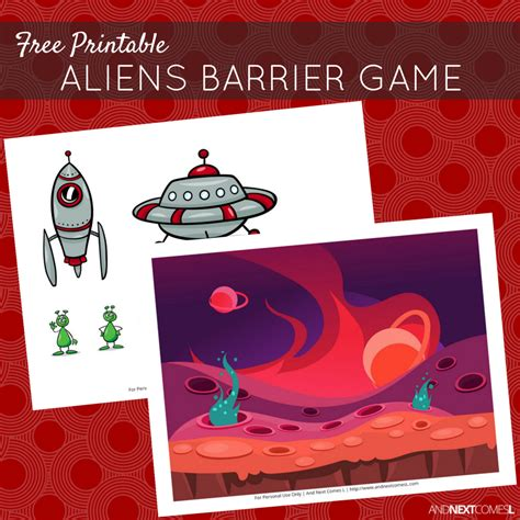 printable barrier games free printable aliens barrier game for speech therapy