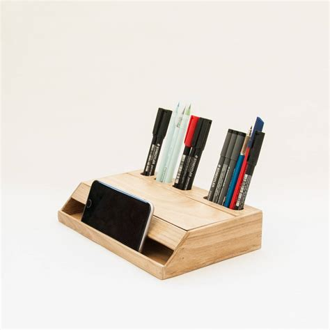 Organizer For Desk Wood Handmade Desk Organizer Office Modern Desk Organizer