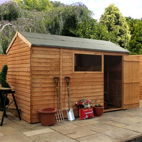 Garden Shed 10 X 6 by Mercia Overlap Apex Garden Shed 10 X 6 Buy