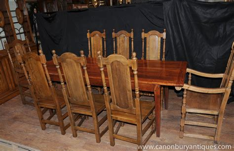 Dining Chairs For Farmhouse Table Farmhouse Dining Set Oak Refectory Table Willam And Chairs Ebay
