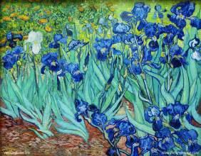 Van Gogh Flowers In A Blue Vase Iris Van Gogh