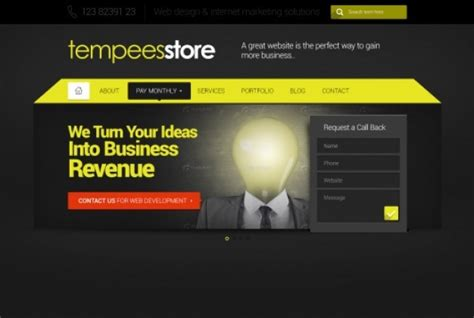 free templates with slider flat web template with slider psd file free