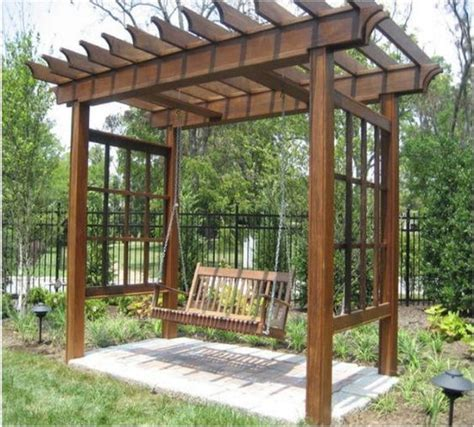 arbor swing plans gardens fire pits and arbors on pinterest