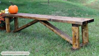 how to build a rustic bench rustic 15 diy bench the happier homemaker