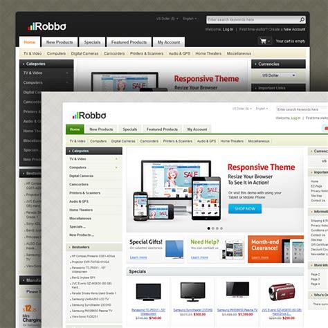 free responsive zen cart templates robbo responsive zen cart template