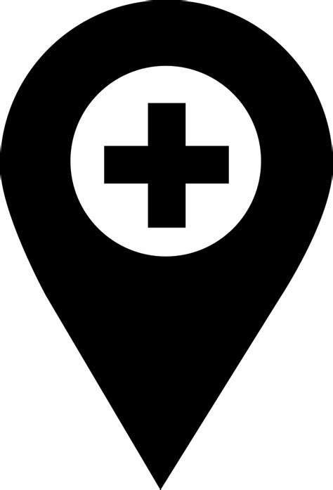 pharmacy location pointer svg png icon
