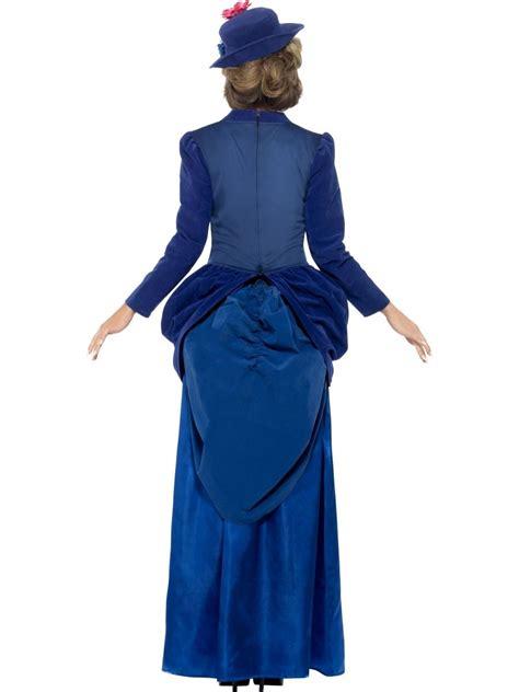 Nanies Dress deluxe blue nanny costume fancy dress book week ebay