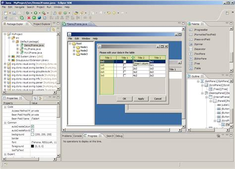 eclipse swing builder visual swing for eclipse dzone java