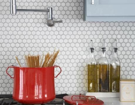 honeycomb tiles for backsplash for the home