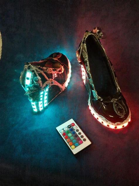 remote control light up shoes rad steunk remote controlled led light up club shoes