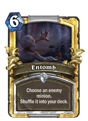 hearthstone gold card template entomb priest card hearthstone