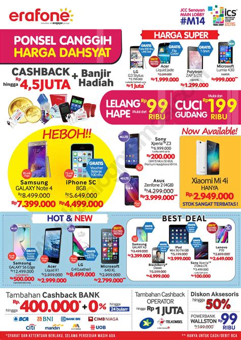 erafone cashback erafone promo di indonesia cellular show 2015