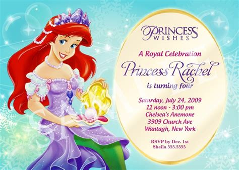 Free Disney Birthday Invitation Template Princess Birthday Invitation Templates Free