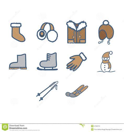 doodle anggi winter season icon set stock vector image 57600751