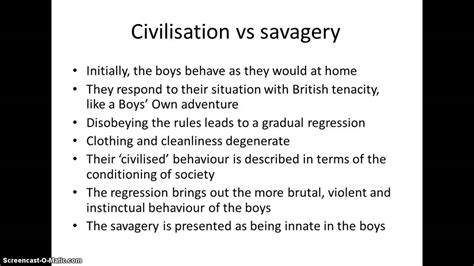 lord of the flies savage theme lord of the flies revision themes youtube