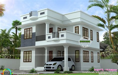 simple model house design neat simple small house plan kerala home design floor