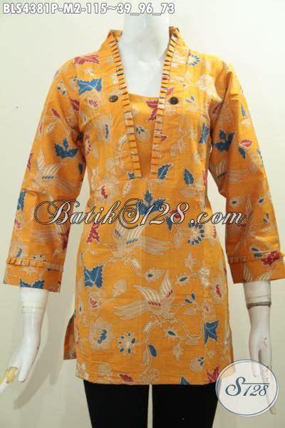 Batik Pria Motif Leaf Kuning jual baju batik fashion warna kuning motif keren kwalitas
