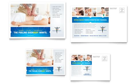 Reflexology & Massage Postcard Template   Word & Publisher