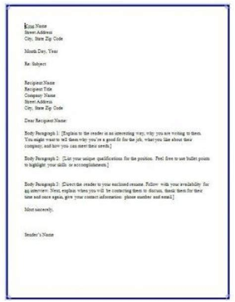 how do a cover letter look resume cover letter exles