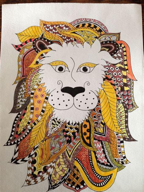 lion zentangle recruitment school spirit pinterest 357 best images about coloring animals on pinterest