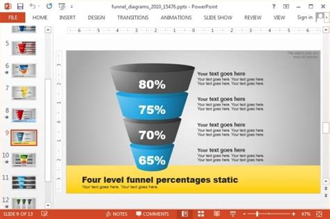 Animated Funnel Diagrams Template For Powerpoint Funnel Chart Powerpoint