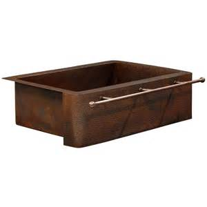 sinkology rodin farmhouse apron front handmade pure solid copper 25 in single bowl copper