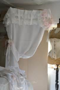 Voilage Blanc Pas Cher 2737 by Rideau Blanc Shabby Chic Volant Froufrou Dentelle