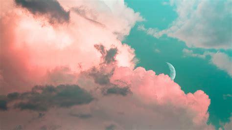 wallpaper  clouds sky moon porous
