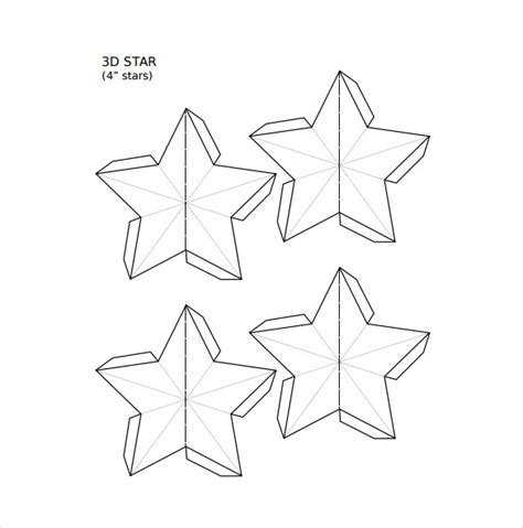 Star Template 19 Download Documents In Pdf Psd Vector Eps Illustrator 3d Template Pdf