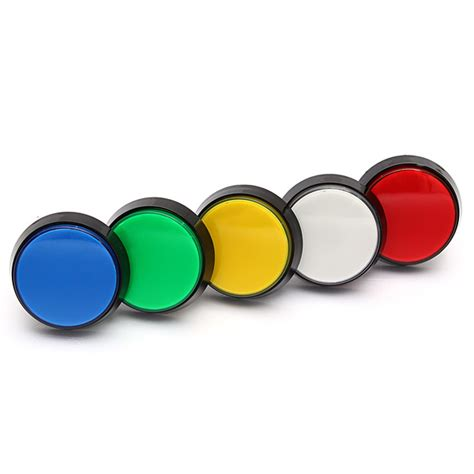 5 Colors Led Light 60mm Arcade Player Push