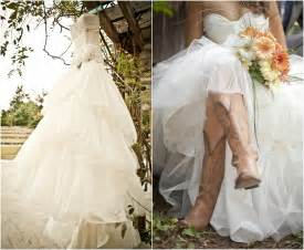 cowboy boots for wedding dresses country wedding dresses with cowboy boots