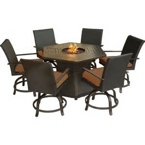 outdoor dining sets with pit aspen creek 7 pit dining set hanover