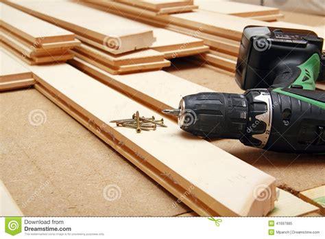 Hardwood Floor Installation Tools Hardwood Flooring Stock Photo Image 41697885