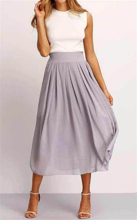 elastic waist maxi skirt grey i need