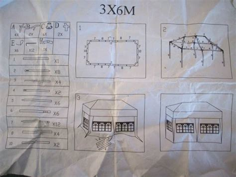 gazebo 3x6 tent gazebo marquee 3m x 6m white for sale in galway