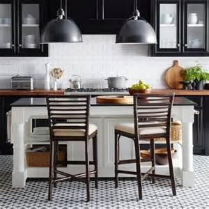 white kitchen island with black granite top barrelson white kitchen island with black granite top