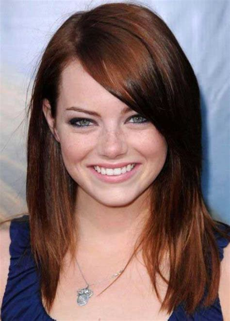 red hair on round face 20 good long hairstyles round face hairstyles haircuts