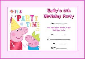 peppa pig party invitations theruntime