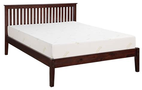 Pine Platform Bed Frame Mfc Pine Platform Bed With Slats Canada