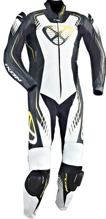 Motorrad Lederkombi Neongelb by Ixon Starbust Lederkombi 1 Teilig Sw Weiss Neongelb M