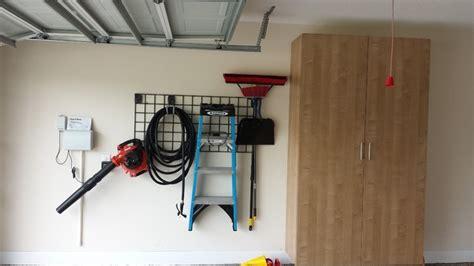Garage Wall Organizer Grid System by Garage Wall Storage In Grid System Garage And Shed